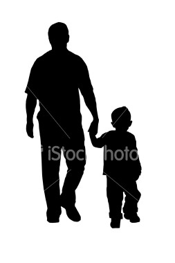 silhouette-of-father-and-son-walking