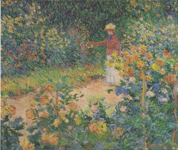 Claude Monet-In the garden