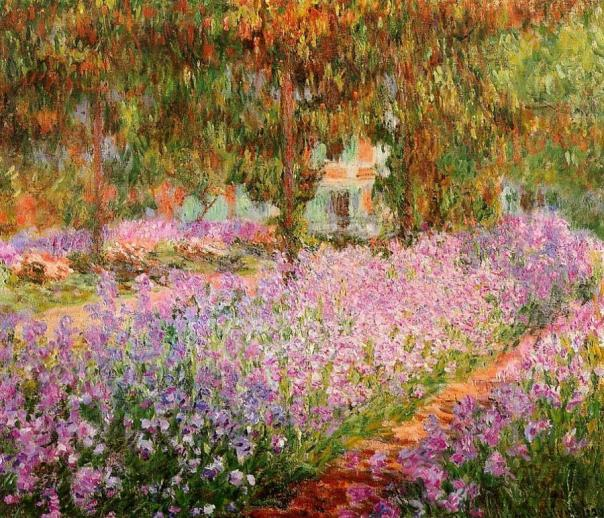 Claude Monet - Irises in Monets Garden
