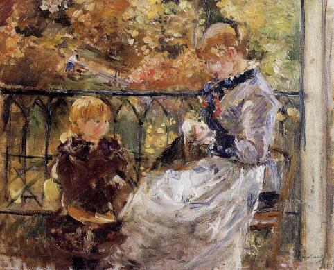Berthe Morisot - On the Balcony of Eugene Manet's Room at Bougival