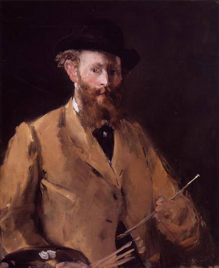 Édouard Manet - Self Portrait with Palette – 1878