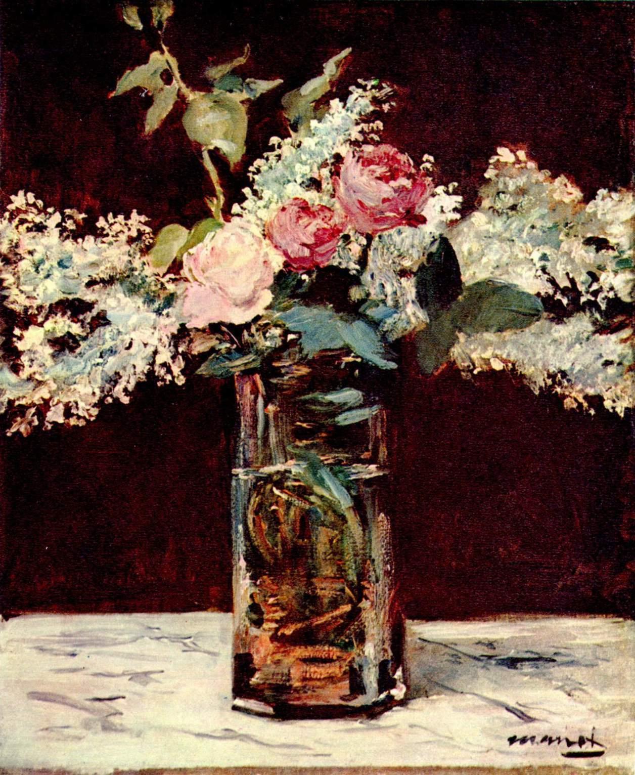 Édouard Manet - Still Life, Lilacs and Roses, 1883