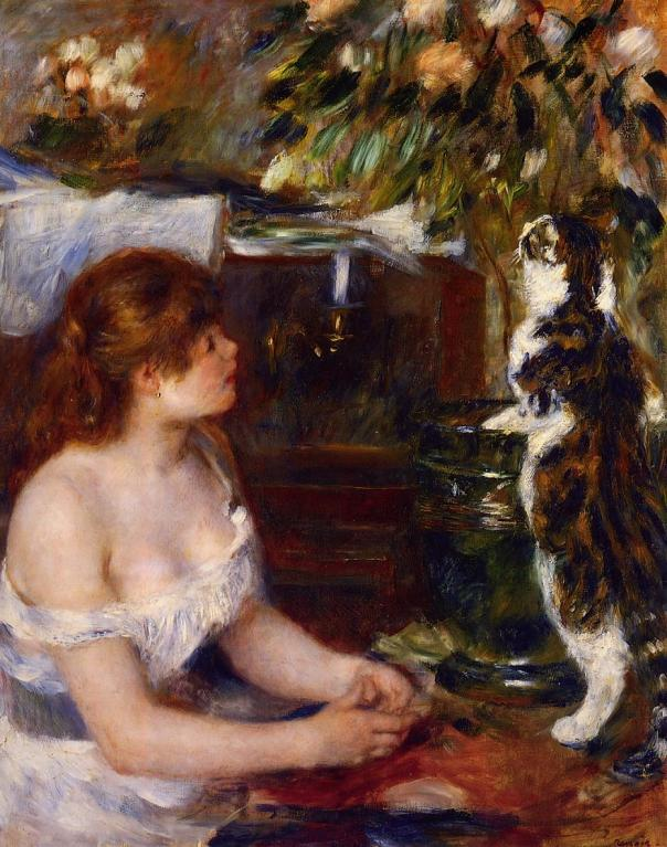 Pierre-Auguste Renoir – Girl and Cat