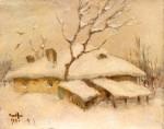 Nicolae Tonitza - Case sub zăpadă
