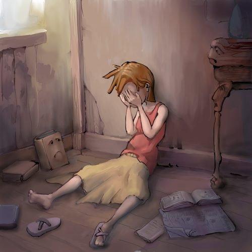 girl tears