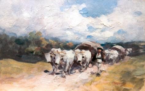 Nicolae Grigorescu-Car cu boi pe drum de ţară