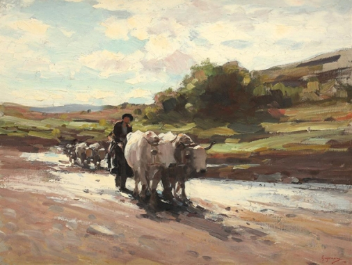 Nicolae Grigorescu - Car cu boi