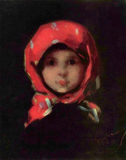 Nicolae Grigorescu - Fetita cu basma rosie