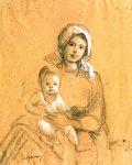 Nicolae Grigorescu  -Mamă şi copil