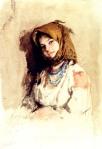 Nicolae Grigorescu  -Portret de ţărăncuţă