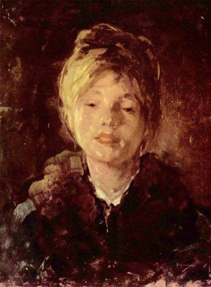 Nicolae Grigorescu -Portret de fată