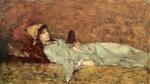 Nicolae Grigorescu -Tanara fata cu oglinda
