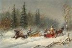 Cornelius Krieghoff - Run Off The Road in a Blizzard
