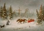 Cornelius Krieghoff - The Blizzard