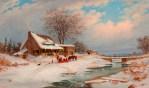 Cornelius Krieghoff - Visitors in Winter