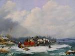 Cornelius Krieghoff - Winter Landscape