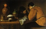 Diego Velazquez - Two Young Men at a Table