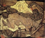Egon Schiele - Lovers, Man and Woman