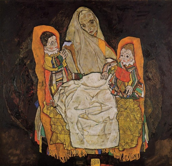 Egon Schiele - Mother with Two Children
