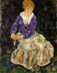 Egon Schiele - Portrait of the Artist`s Wife Seated
