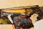 Egon Schiele - The Artist`s Mother Sleeping