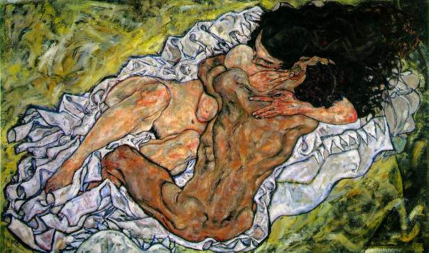 Egon Schiele - The Embrace (The Loving)