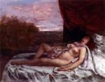 Gustave Courbet - Femme Nue Endormie