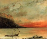 Gustave Courbet - Sunset on Lake Leman