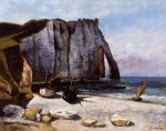 Gustave Courbet - The Cliff at Etretat