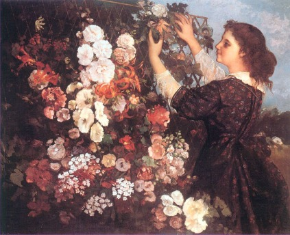 Gustave Courbet - The Trellis