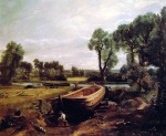John Constable - Boat-Building on the Stour