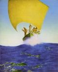 Maxfield Parrish - Arabian Nights - Pirates on the Seas