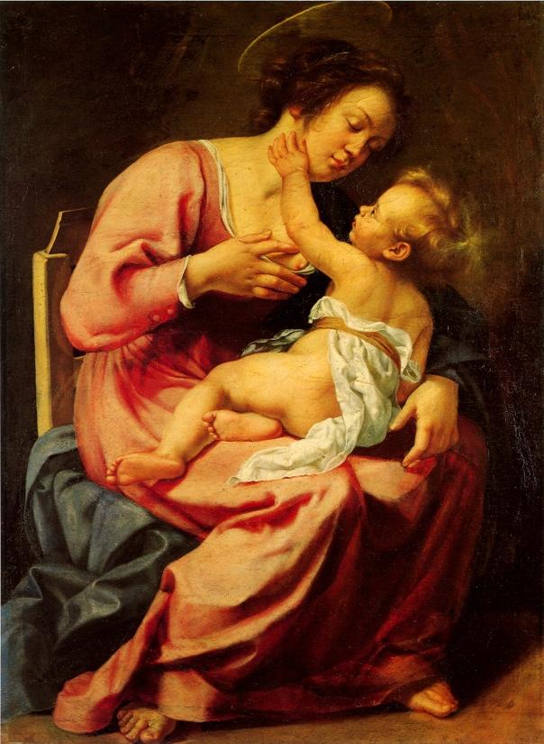 Artemisia Gentileschi - Madonna and Child