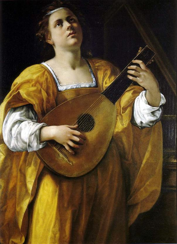 Artemisia Gentileschi - St Cecilia playing the lute