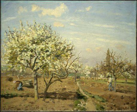 Camille Pissarro - Orchard in Bloom, Louveciennes (1872)