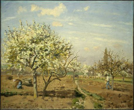 Camille Pissarro - Orchard in Bloom, Louveciennes (1872)
