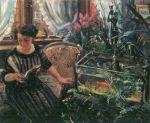 Lovis Corinth - Dame am Goldfischbassin (Die Gattin des Künstlers)