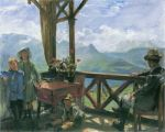 Lovis Corinth - Terrasse in Klobenstein, Tirol