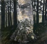 Gustav Klimt - Birch in a Forest