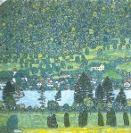 Gustav Klimt - Forest Slope in Unterach on the Attersee