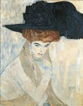 Gustav Klimt - The Black Feather Hat (Lady with Feather Hat)