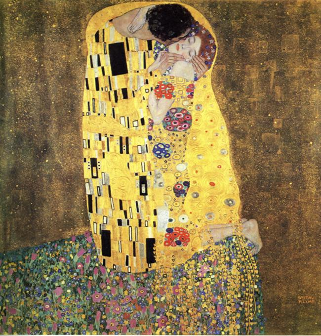 Gustav Klimt. The Kiss.