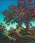Maxfield Parrish - House Under Red Oaks