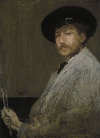 James Abbott McNeill Whistler - Arrangement in Gray.Portrait of the Painter.