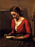 Jean-Baptiste-Camille Corot - A Girl Reading