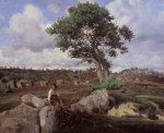 Jean-Baptiste-Camille Corot - Fontainebleau, The Raging One 1830