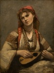 Jean-Baptiste-Camille Corot - Gypsy Girl with a Mandolin