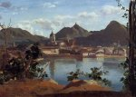 Jean-Baptiste-Camille Corot - Town and Lake Como 1834