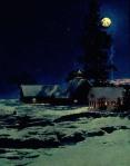 Maxfield Parrish - Moonlight Night, Winter