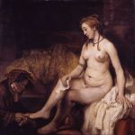 Rembrandt - Bathsheba at Her Bath, also modelled by Hendrickje, 1654(Bathsheba with David's letter)